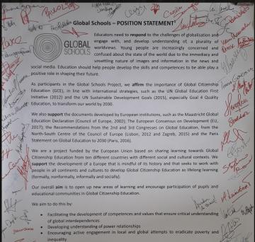The Trento position statement by Global Schools